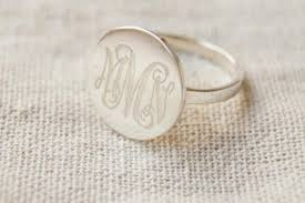 monogram ring silver engraved 925 sterling silver monogram ring engraved monogram ring