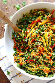chopped thai salad with sesame garlic dressing recipe pinch of yum