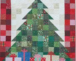 quilted christmas christmas tree quilt etsy