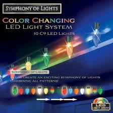 10ct multi led c9 faceted color changing light system target