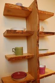 Leaning Shelves Woodworking Plans by 22 Best Natural Live Edge Shelving Images On Pinterest Shelving