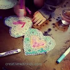heart doilies easy craft watercolor marker heart doilies