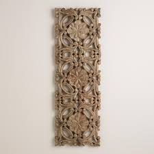 antiqued carved wood wall decor world market