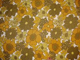 vintage fabrics yellow floral vintage 60s handmade cushion cover