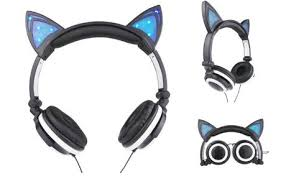 light up cat headphones jamsonic light up cat ear headphones 11 99 regularly 99 99