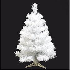 3 snow white pine artificial tree unlit