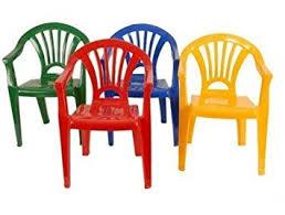 chaise plastique enfant lot 4 chaises plastique pour enfant 4 couleurs jaune vert bleu