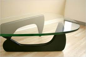 glass coffee table with wood base triangle wood base coffee table