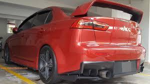 red mitsubishi lancer custom modified mitsubishi lancer x sedan full body kit 18 inch