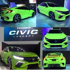 2016 civic si coupe production vs concept 2016 honda civic