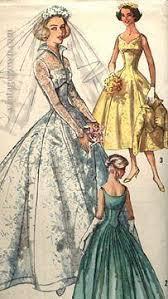 Wedding Dress Jobs 1950s Wedding Dress Pattern Simplicity 1461 Vintage Bridal