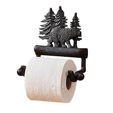 bear toilet paper holder cabin place