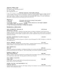 On The Job Training Resume by Resume Jwingard Plastic Supervision 3 1