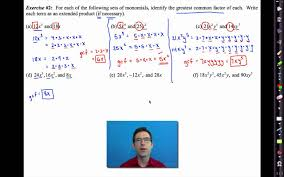 common core algebra i unit 7 lesson 3 factoring polynomials