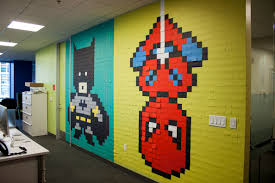 awesome office mural made with 8 024 post its page 2 of 2 best superhero post it mural 27