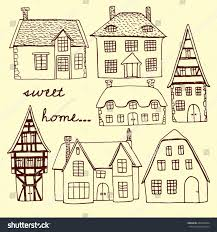 vector illustration hand drawn old country stock vector 262669904