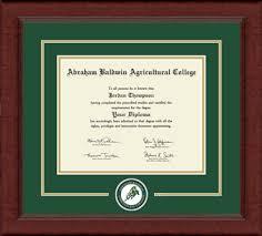 college diploma frames abraham baldwin agricultural college lasting memories circle logo
