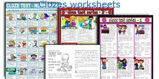 english teaching worksheets clozes