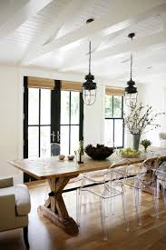modern farmhouse dining room by katie hackworth for h2 design
