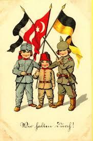 Ottoman Germany Wwi Propaganda From Germany Wir Halten Durch Translated We