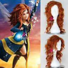 movie tinker bell pirate fairy zarina wig synthetic