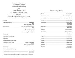 exles of wedding program event program template word europe tripsleep co