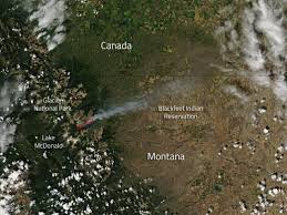 Wildfire Map August 2015 by Reynolds Creek Fire Montana Nasa