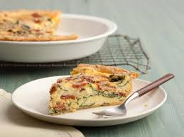 cuisine quiche spinach and bacon quiche recipe paula deen food