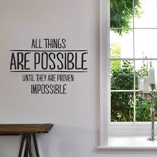 products wallboss wall stickers wall art stickers uk wall all things are possible wall sticker