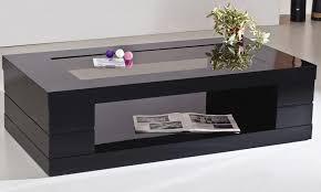 Black Glass Tables Inspiring Coffee Table Black With Shelf Target Inside Omega