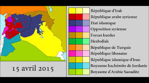 Syria Conflict Map by Military Intervention Against Isil June 2014 April 2016 Every