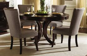 mixed dining room chairs dining room brown upholstered chairs also minimalist round wooden