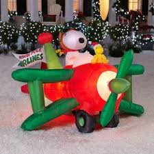 Inflatable Snoopy Christmas Yard Decorations by 6ft Lighted Animated Fishing Santa In Boat Airblown Inflatable
