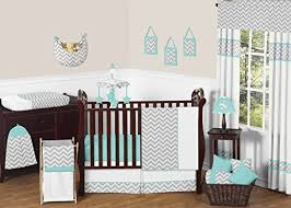 Turquoise Chevron Bedding Best Chevron Bedding For Cribs And Nursery Sets