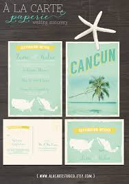 destination wedding invitations cancun mexico destination wedding invitation and rsvp cards