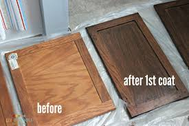 Gel Stain Kitchen Cabinets Before After How To Use Gel Stain On Cabinets The Good U0026 The Bad