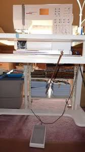 Cheap Sewing Cabinets How To Diy A Table In Order To Drop A Sewing Machine Into It So