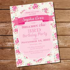 shabby chic floral birthday party invitation floral invite