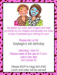 makeupspa birthday party invitations