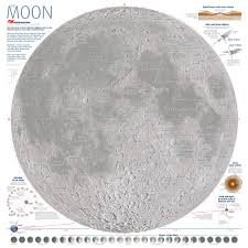 Distance Map Moon Map Poster Astronomy Now Shop