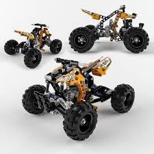 lego technic 3d model lego technic quad bike cgtrader