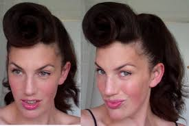 how to rockabilly roll hairstyle tutorial 40 u0027s 50 u0027s pinup hair