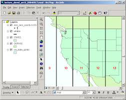 utm zone map projections and coordinate systems