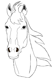 horse coloring pages free horse face coloring horses