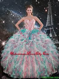 quinceanera dresses 2016 2016 sweetheart beaded and ruffles quinceanera gowns in
