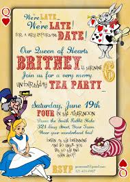 alice in wonderland birthday invitations marialonghi com