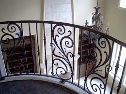 wrought iron stair panels ornamental style new home design