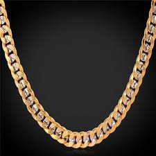 make gold chain necklace images 2018 fancy two tone gold chain necklace platinum plated 18k gold jpg