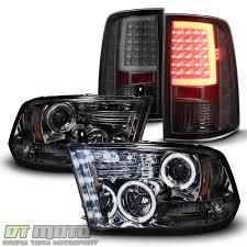 Dodge Ram Truck Accessories - smoke 2009 2017 dodge ram 1500 halo projector headlights led tail