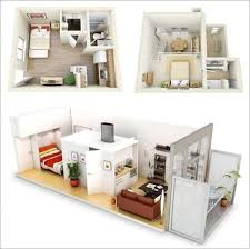 Studio Apartment Floor Plan by One Bedroom Apartment Plans And Designs Small Studio Apartment